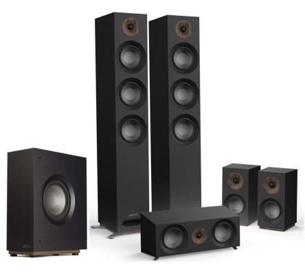 Jamo Studio S809 HCS + S810 SUB czarny  Zestaw kolumn głośnikowych 5 1